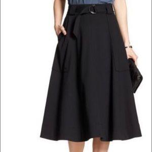 Banana Republic Midi Skirt with Belt Size 0